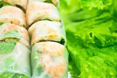 Vietnamese food. Pork & shrimp salad rolls Stock Photography