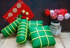 Vietnamese food,  banh chung, banh tet, Vietnam Tet Stock Photography