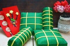 Vietnamese food,  banh chung, banh tet, Vietnam Tet Royalty Free Stock Image