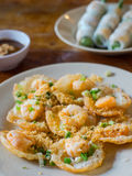 Vietnamese food, Banh Khot with shrimps Stock Photography