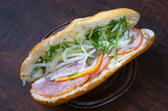 Vietnamese food, banh mi Royalty Free Stock Photos