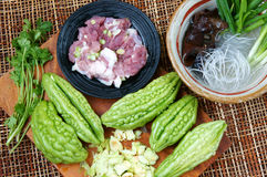 Vietnamese food, bitter melon, ground meat Stock Photos