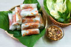 Vietnamese food, bo bia Stock Photos