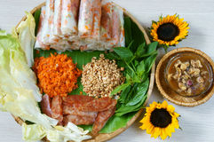Vietnamese food, bo bia Stock Photography