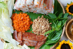 Vietnamese food, bo bia Stock Photos