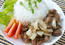 Vietnamese food, bo luc lac, beef Stock Photos