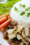 Vietnamese food, bo luc lac, beef Royalty Free Stock Photo