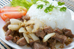 Vietnamese food, bo luc lac, beef Stock Image
