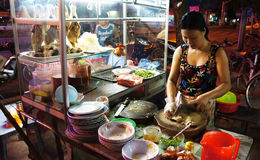 Vietnamese food, duck porridge Royalty Free Stock Photos