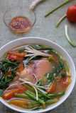 Vietnamese food, fish soup, red tiapia Stock Images