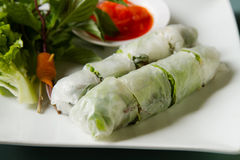 Vietnamese food Fresh spring rolls Royalty Free Stock Images