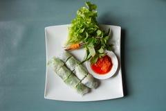 Vietnamese food Fresh spring rolls Stock Photos