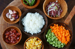 Vietnamese food, fried rice, Asian eating Royalty Free Stock Photos