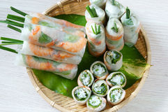 Vietnamese food, goi cuon, salad roll Stock Photos