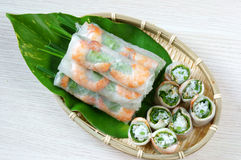 Vietnamese food, goi cuon, salad roll Stock Image