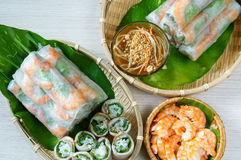 Vietnamese food, goi cuon, salad roll Stock Images