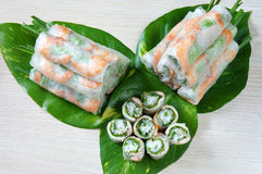 Vietnamese food, goi cuon, salad roll Royalty Free Stock Photography