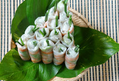 Vietnamese food, goi cuon, salad roll Royalty Free Stock Image