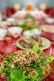 Vietnamese Food Greens & Noodles Stock Photography
