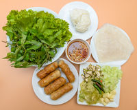 Vietnamese food pork sausage with vegetable Stock Photos