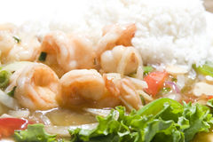 Vietnamese food prawn sauteed stock photography