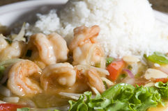 Vietnamese food prawn sauteed Stock Photo