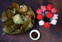 Vietnamese food,  pyramid rice dumpling Stock Photos