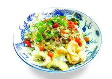 Vietnamese food. Vietnamese rice dish originating in Hue, baby basket clams rice royalty free stock photos