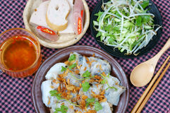 Vietnamese food, Rice noodle roll Stock Photos