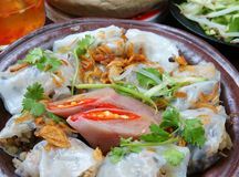 Vietnamese food, Rice noodle roll Royalty Free Stock Photography