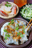 Vietnamese food, Rice noodle roll Royalty Free Stock Photos