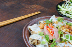 Vietnamese food, Rice noodle roll Stock Photo