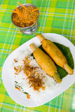 Vietnamese food, Sugarcane wrapped with shrimp Royalty Free Stock Photo