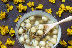 Vietnamese food, sweet lotus seed gruel Stock Photos