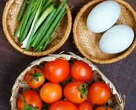 Vietnamese food, tomato saute egg Stock Photos