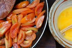 Vietnamese food, tomato saute egg Stock Image
