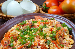Vietnamese food, tomato saute egg Royalty Free Stock Photo