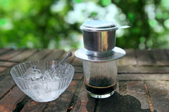Vietnamese French drip coffee Stock Photos