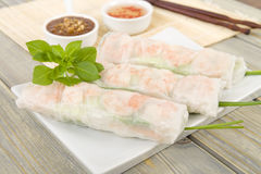 Vietnamese Fresh Spring Rolls Stock Photos
