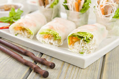 Vietnamese Fresh Spring Rolls Royalty Free Stock Images