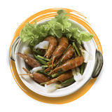 Vietnamese fried prawns Royalty Free Stock Image
