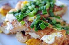 Fried rice cake Stock Image