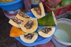 Vietnamese fruit seller Stock Image
