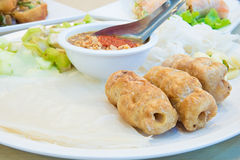 Vietnamese fusion food with herb and vegetable.  royalty free stock photography