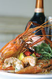 Vietnamese giant freshwater prawn Stock Photo