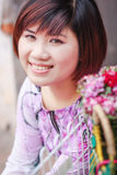 Vietnamese girl in ao dai Stock Images
