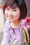 Vietnamese girl in ao dai Stock Images