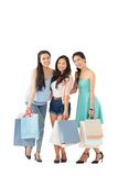 Vietnamese girls with paper bags Stock Images