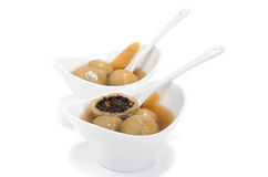Vietnamese glutinous rice balls dessert. On white background Royalty Free Stock Photography