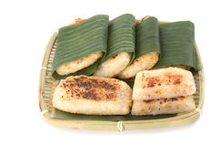 Vietnamese grilled banana cake Stock Images